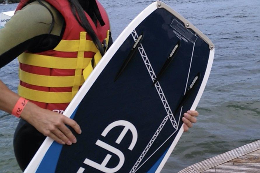 Wasserski- und Wakeboard fahren